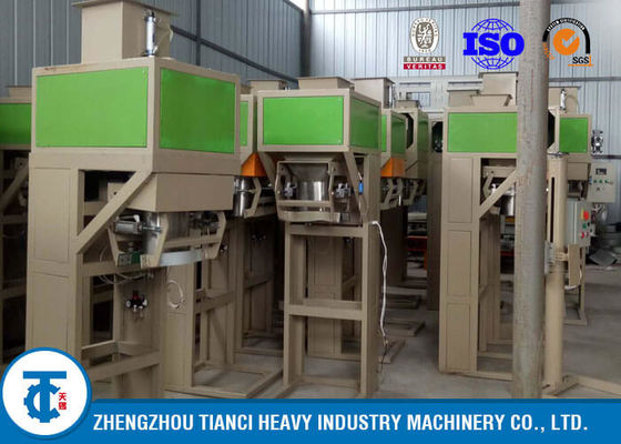 Powder / Granules Fertilizer Packaging Machine , Automatic Weighing And Bagging Machine